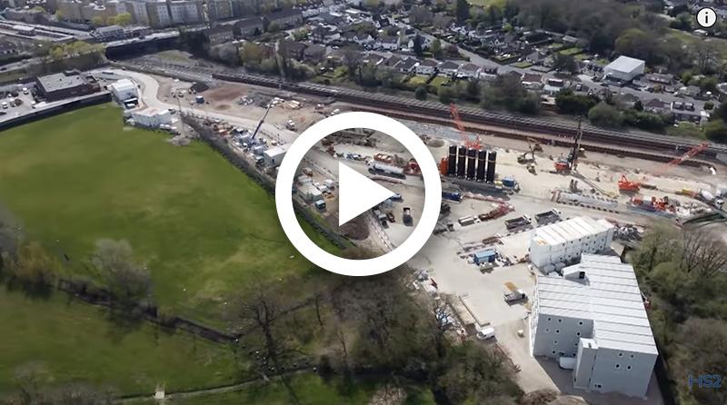 HS2 construction update: West Ruislip portal site