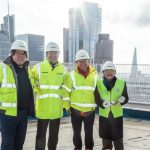 One Crown Place gets topped-out in London