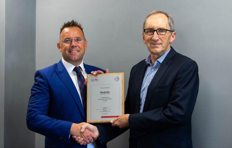 Van Excellence Select Quartix as Gold Partner