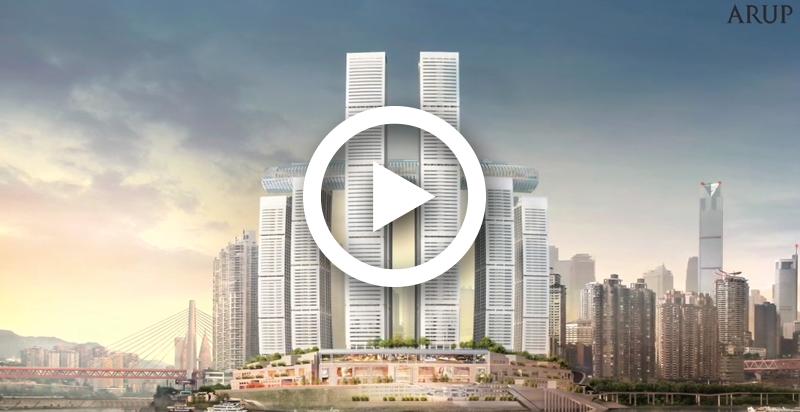 Raffles City Chongqing – Building a hybrid outriggers system