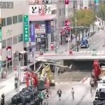 Video: Japanese efficiency – timelapse of sinkhole repair released