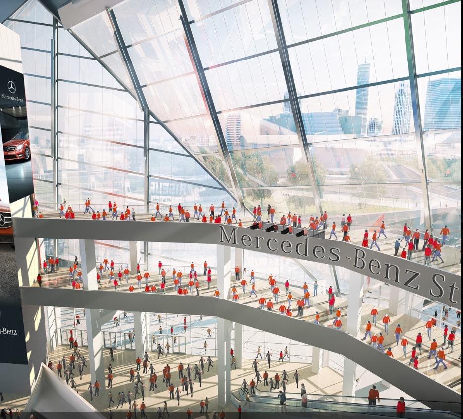Video Roof raised on Mercedes-Benz stadium1