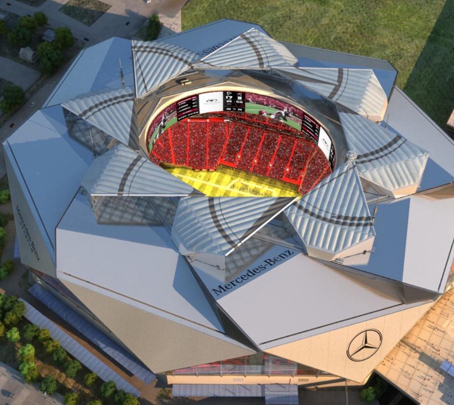 Video Roof raised on Mercedes-Benz stadium4