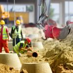 Construction output drops