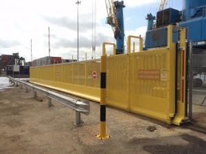 23m custom built tracked gate
